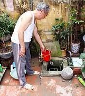 rửa bể nước ngầm