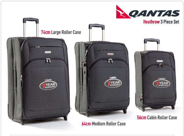 Qantas Heathrow 3 Piece Luggage Set Images Frompo