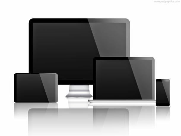Desktop, Laptop, Tablet and Smartphone PSD