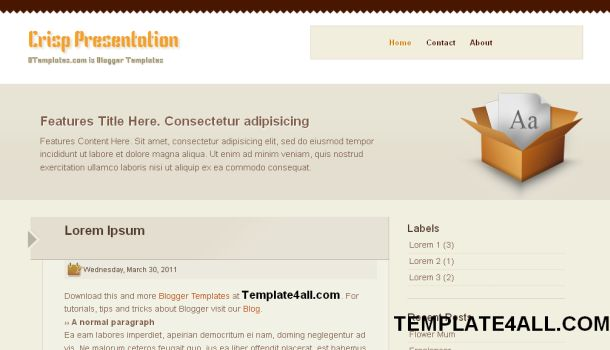 Free Brown Business Blogger Template