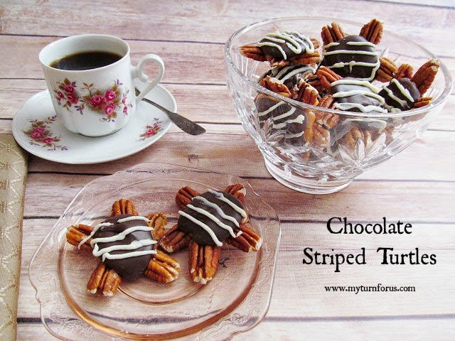 24 Candy Ideas: Chocolate Striped Turtles