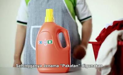 Iklan sabun pencuci Pakatan, tukar dari jenama BN