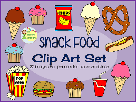 https://www.teacherspayteachers.com/Product/Snack-Food-Clip-Art-Set-20-images-for-personal-or-commercial-use-1868236