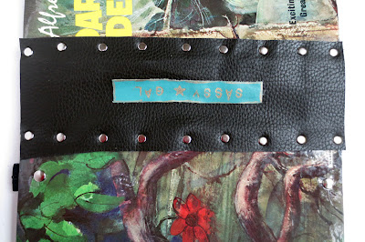Using upholstery sample for new book spine