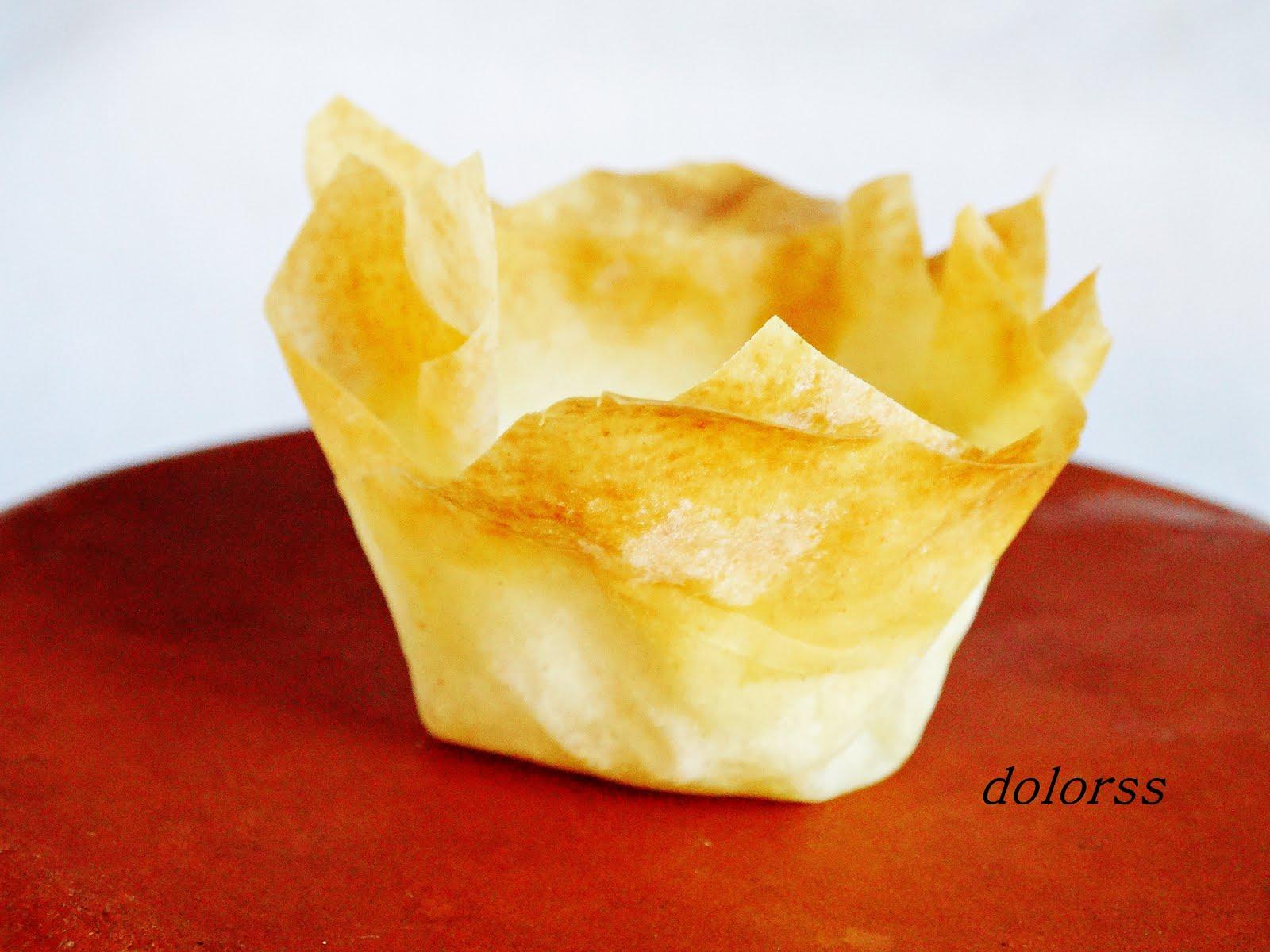 Blog de cuina de la dolorss c mo hacer tartaletas de - Que hacer con la pasta filo ...