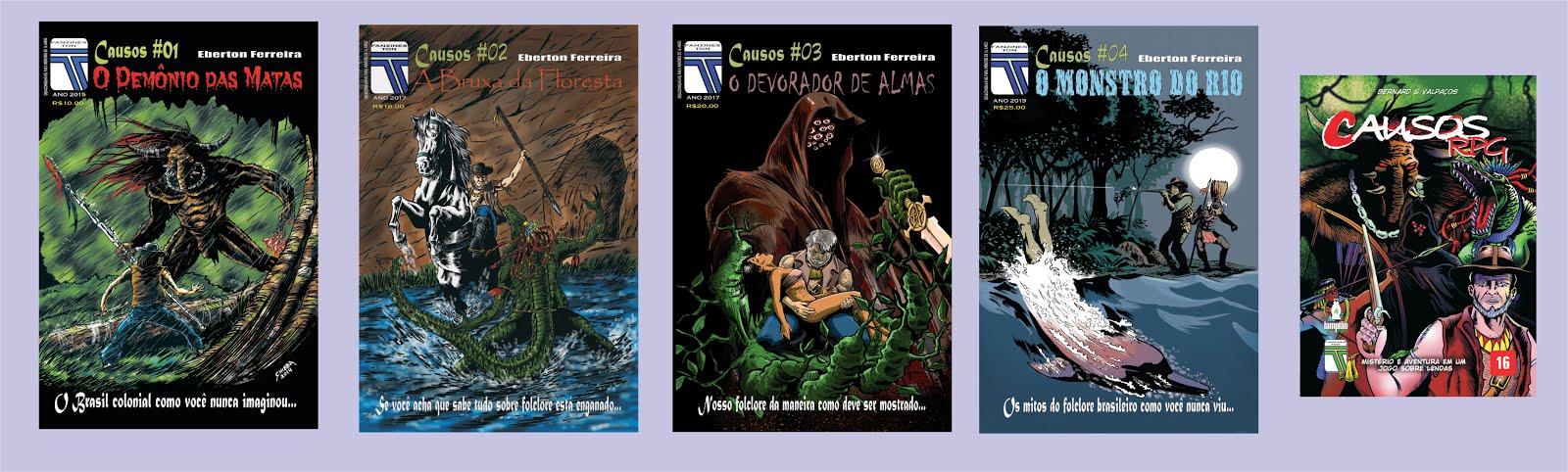 COMPRE O COMBO COM OS QUATRO VOLUMES + O RPG DA SÉRIE CAUSOS