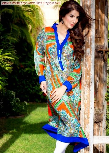 Deepak Perwani Midsummer Pret Designs 2014-2015