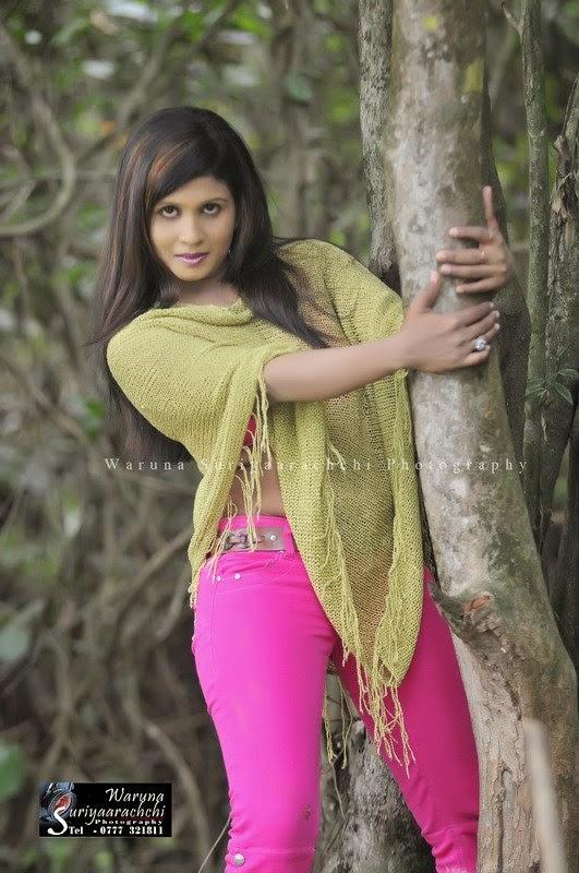 Anjula Gamage pink jeans