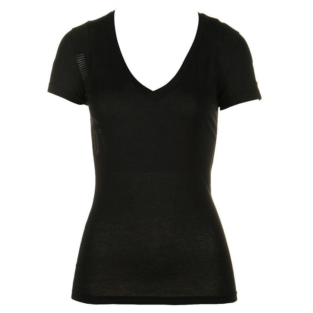 black v neck t shirt template -#main