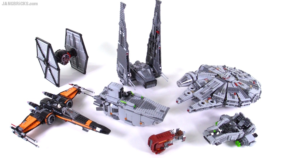LEGO Star Wars Ep. 7 Ships, Vehicles, & minifigs summary videos
