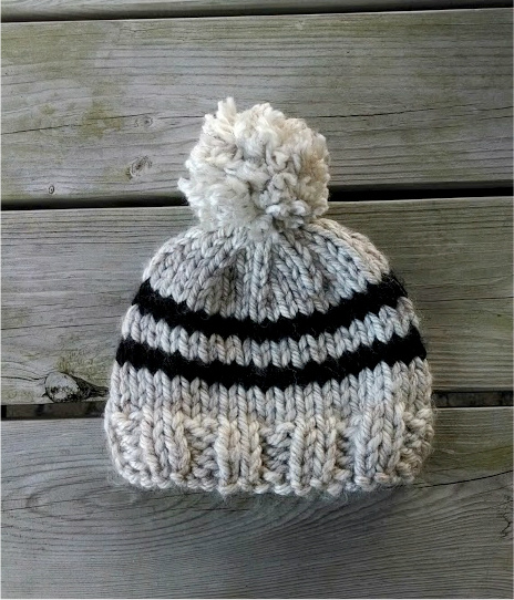 Knitting Pattern Hat Straight Needles Free : Fiber Flux: Free Knitting Pattern! Toddler Rugby Hat...