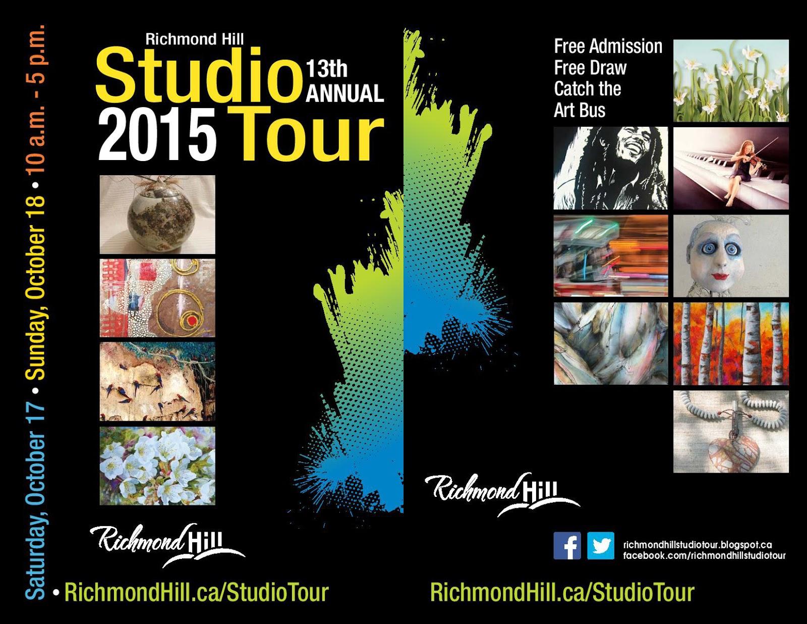 Art on the Hill Richmond Hill Studio Tour 2015 Brochure – Studio Brochure