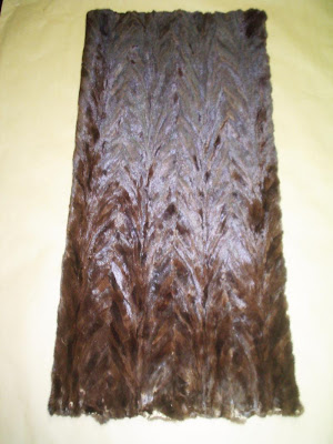 brown mink fur belly plate