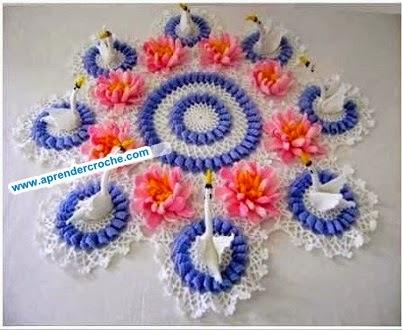 dvd curso de croche loja toalha cisnes flores frete gratis aprender croche com receita edinir-croche