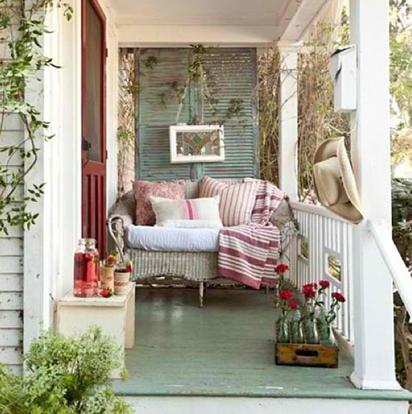french country style the perfect passageway is a pretty porch