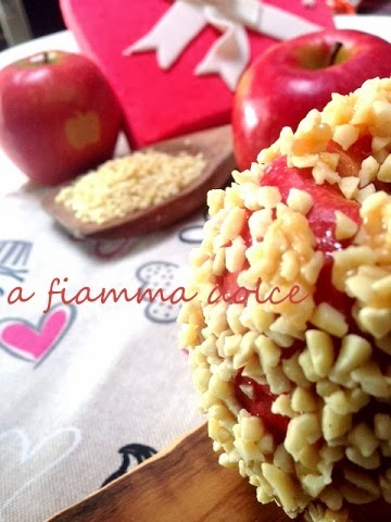 mele (d'amore) caramellate al mou salato