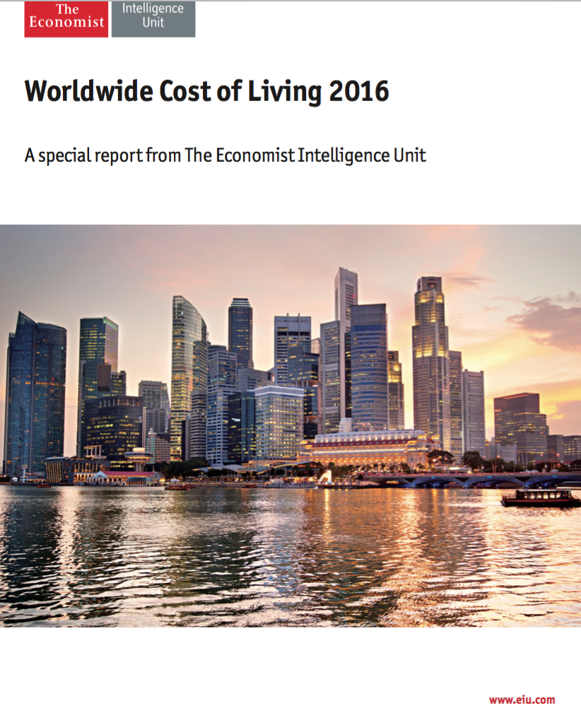 World Cost of Living 2016