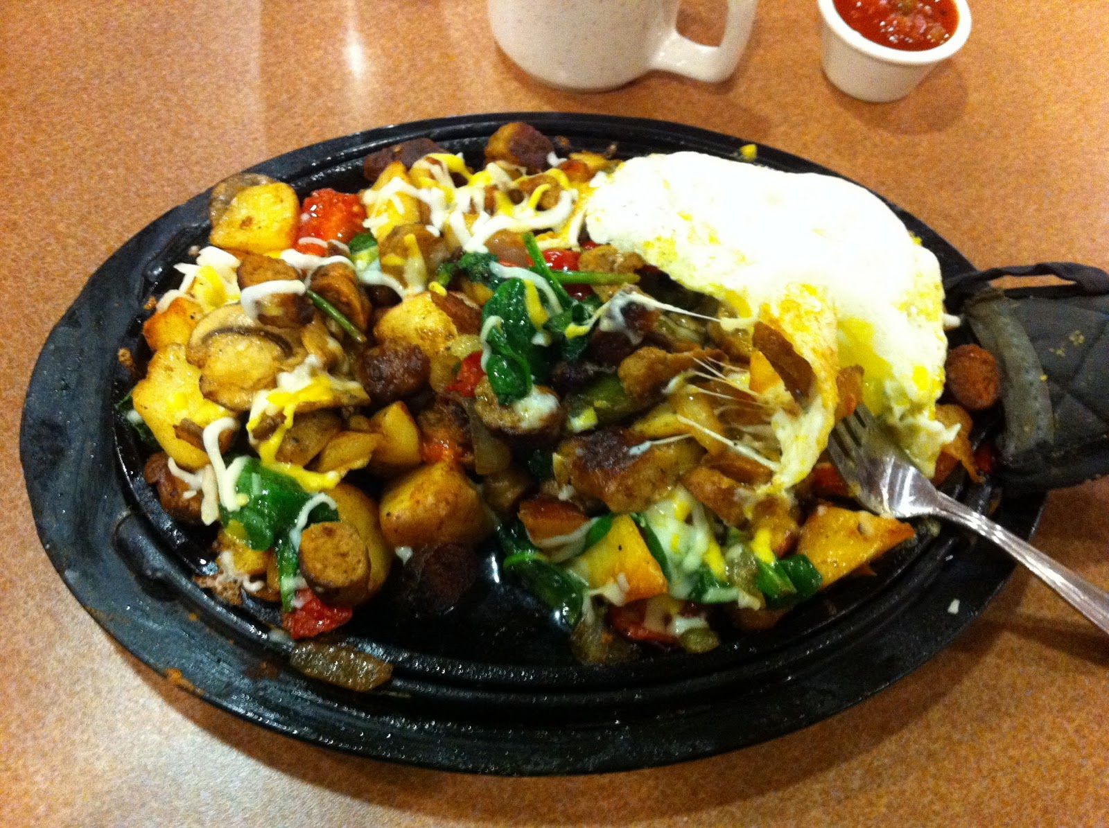 ... Natters: stupendously huge skillet breakfast & a haircut: two bits