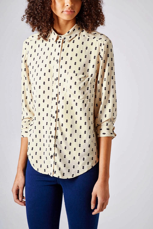 topshop print shirt