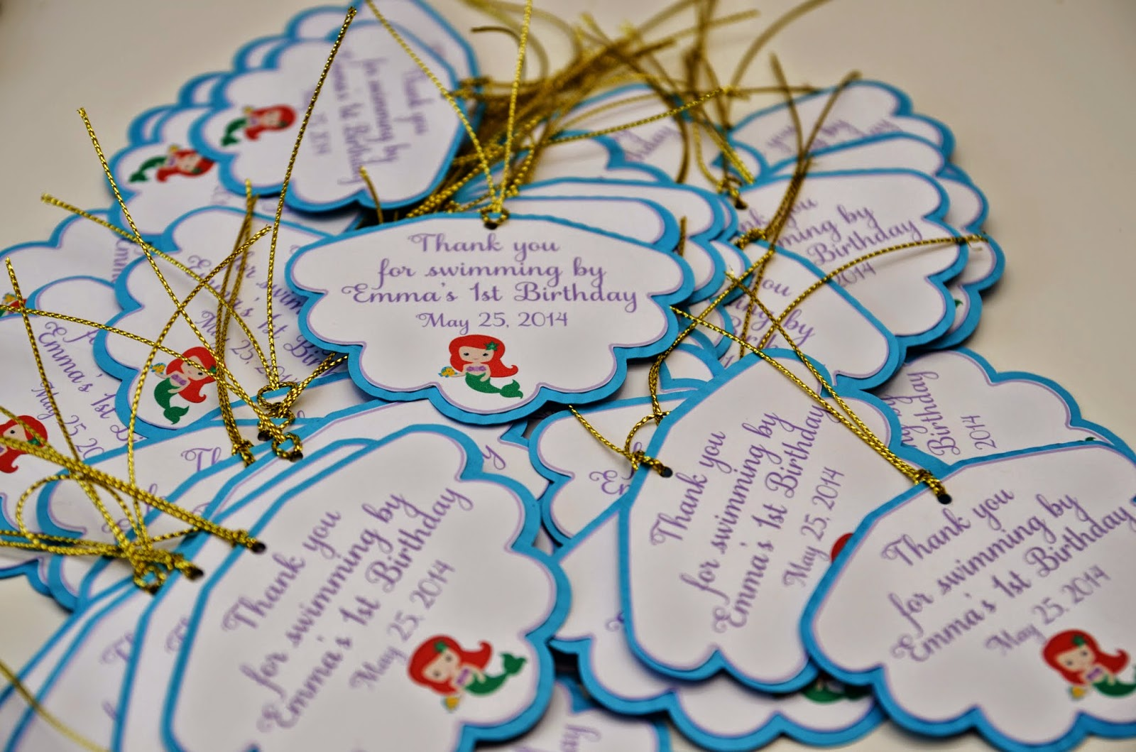 little mermaid gift tags