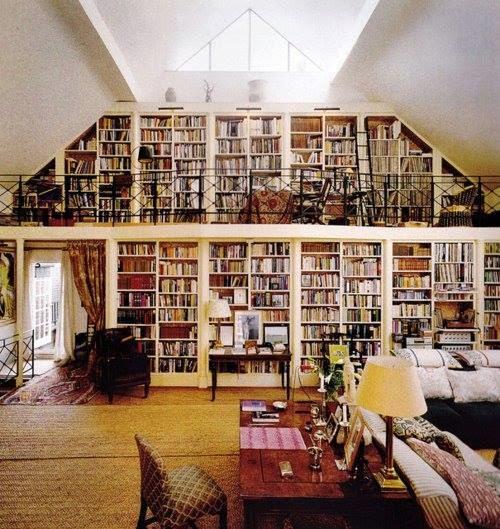 projet maison biblioth que mansarde. Black Bedroom Furniture Sets. Home Design Ideas