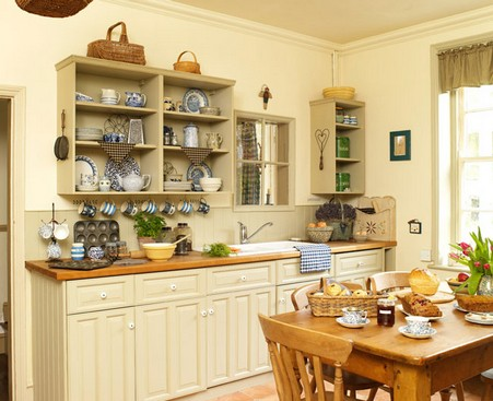 These open kitchen shelves offer versatility - just add doors for a new look!