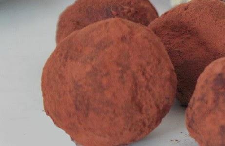 palline alla ricotta e cacao
