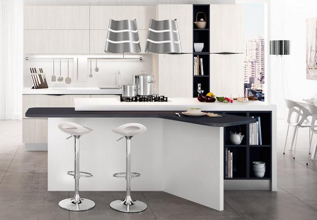 20 formas de incorporar una mesa en la cocina cocinas - Mesas de trabajo para cocina ...