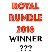 WWE Royal Rumble 2016 winner prediction