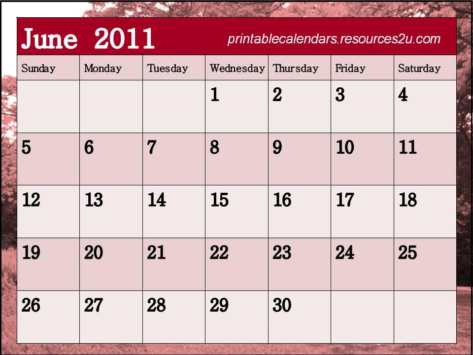 Calendar Planner Vb : Calendar june
