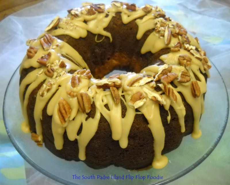 The South Padre Island Flip Flop Foodie: Apple-Cream Cheese Bundt Cake