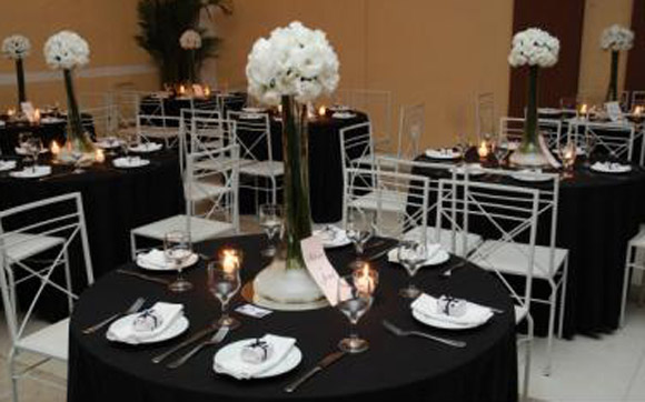 Dionete Lemos Eventos Decoraç u00e3o em preto e branco para a festa de 15 anos -> Decoração Xadrez Preto E Branco