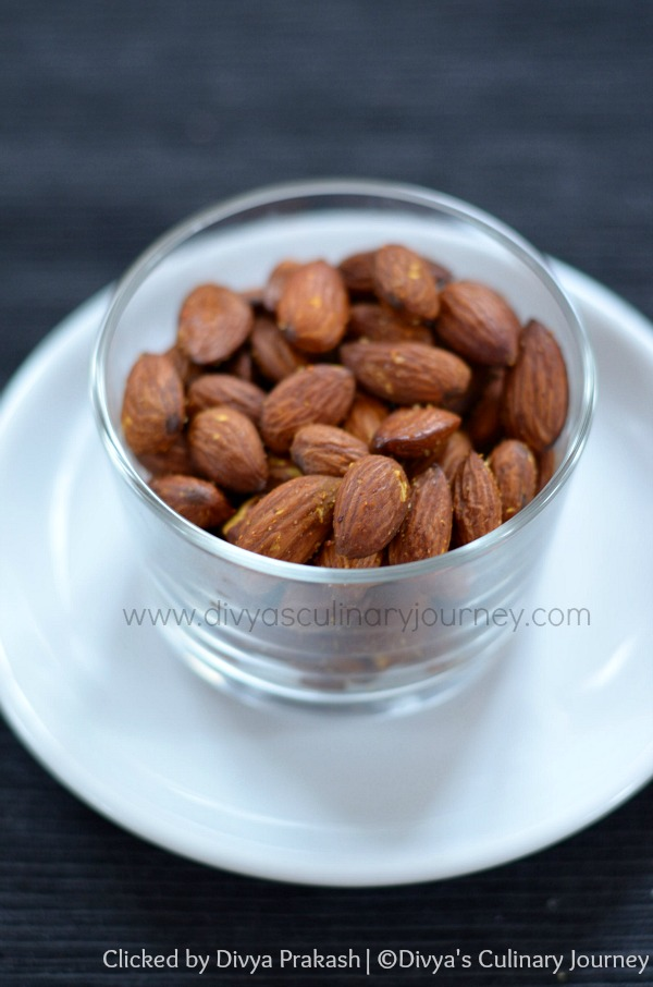almonds roasted in oven, healthy snack