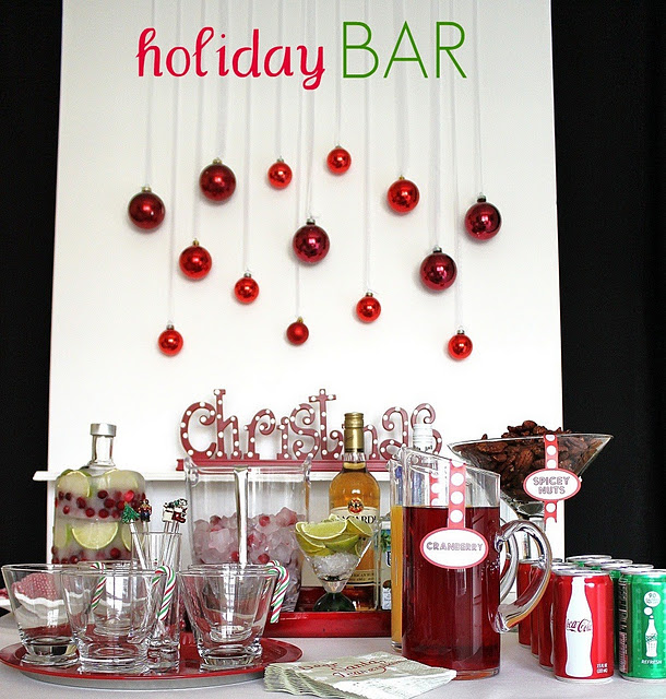holiday cocktail bar