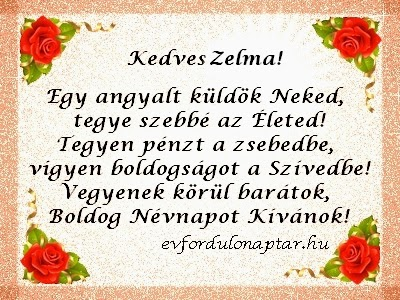 Január 23, Zelma névnap
