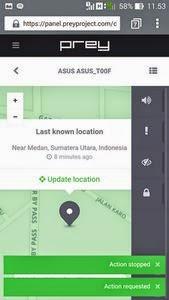 yang memungkinkan kita untuk melacak dan menemukan perangkat android baik tablet maupun h Aplikasi Prey Anti Theft untuk mencari android yang hilang