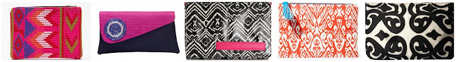 Forever 21 Chevron Pattern Zippered Clutch $5.53 (regular $7.90)  Ikwetta Pink Diamond Clutch $25.00  Steve Madden Bdraco Clutch $31.99 (regular $58.00)  Steve Madden Faux Leather Clutch $50.98 (regular $68.00)  BCBGeneration The Stuck On You Clutch $54.99 (regular $68.00)