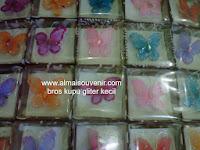 souvenir bros kipu gliter kecil, souvenir pernikahan, Souvenir pernikahan murah,  souvenir bros