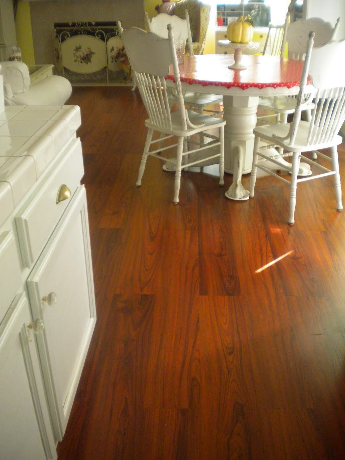 Brazilian Cherry cork floor