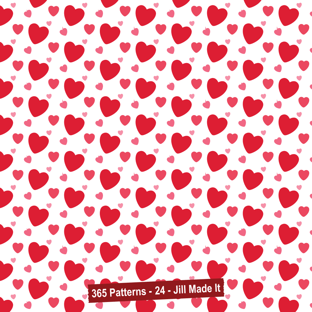 365 Patterns:  Valentine's Hearts
