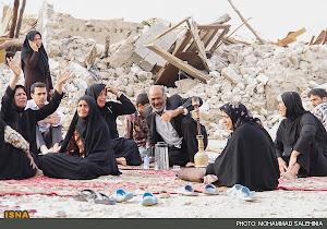 مردم داغ دیده مناطق زلزله زدهی استان بوشهر..