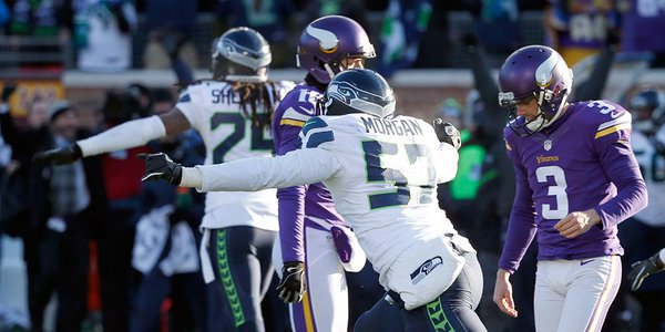 Vikings erra FG no fim e Seahawks se classifica nos playoffs
