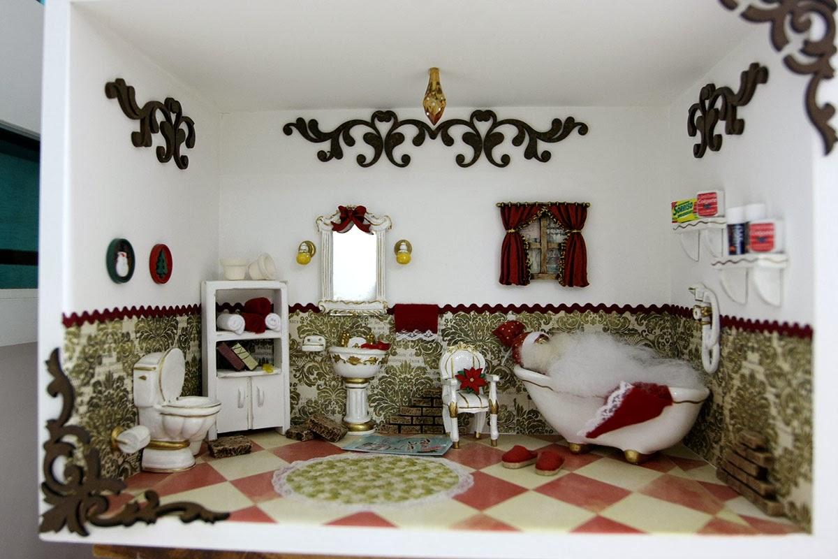 decoracao de natal no banheiro:NOS DETALHES: Abuse dos nichos na decoração de Natal