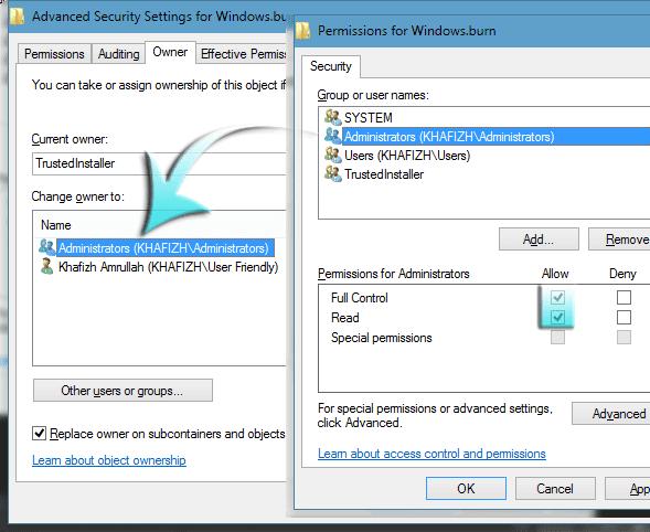 Cara Supaya Registry Key Dapat Di Edit Dengan Merubah Permission-nya