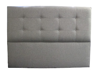 The Mirrabelle upholstered padded headboard is an elegant and simple modern design.