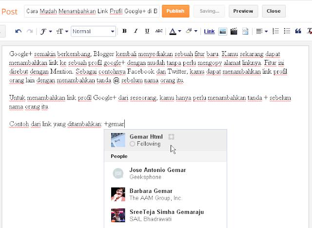 cara menambahkan link profil google+