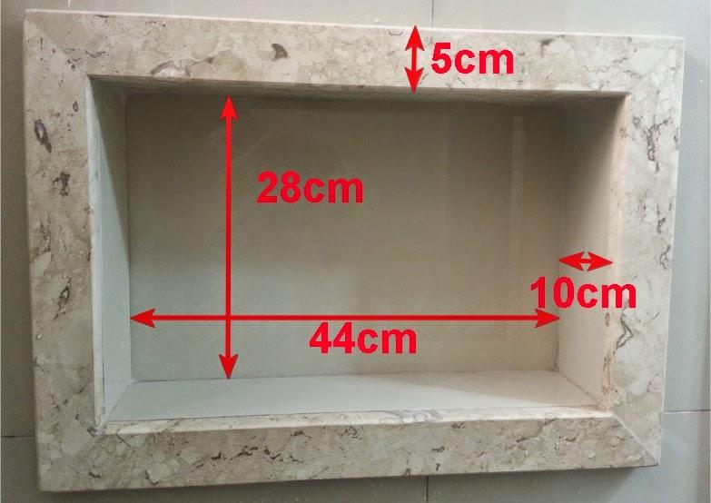 detalhes do NICHO do banheiro  Meu novo Lar -> Nicho Banheiro Box Medidas