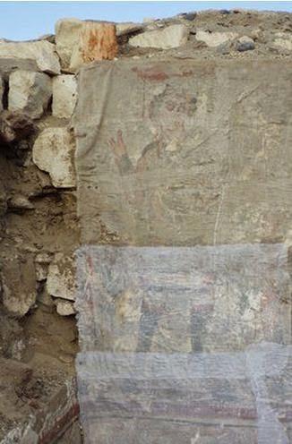 A pintura lembra Jesus Cristo