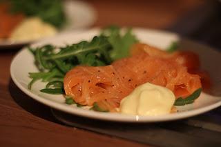 Smoked salmon starter