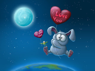 "Globo ""I love Yoy"" , luna, pajarito y elefantito"